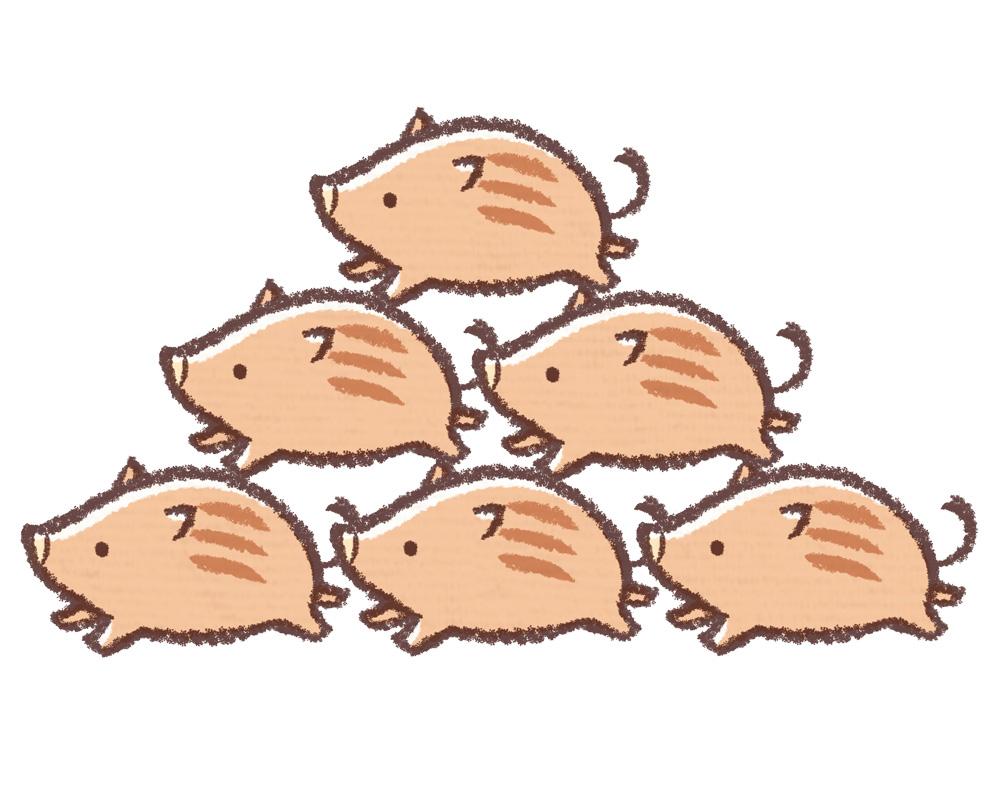 「年賀状 イノシシ」の画像検索結果