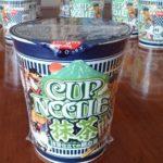 カップヌードル抹茶仕立ての鳥白湯